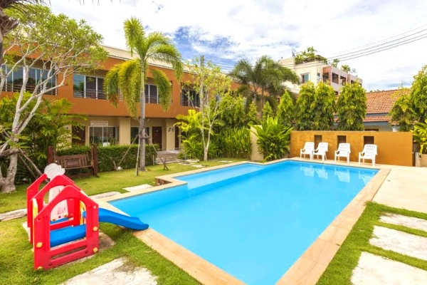 Pool for two-bedroom apartment in Chalong
