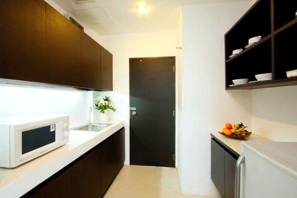 Kitchen in Chalong studio apartments