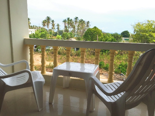 Chairs on Rawai apartment balcony